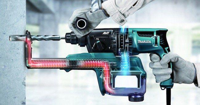 Makita HR2650J SDS Plus Bohrhammer mit Absaugung und Hepafilter für 185,90€(statt 204€)