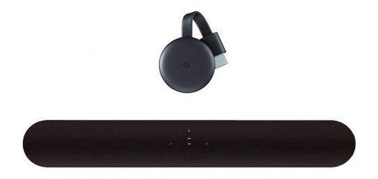 Sonos Beam Lautsprecher + Google Chromecast für 359€ (statt 424€)