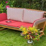 Merxx Gartenliegebank aus Akazienholz für 142,49€ (statt 194€)