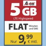 🔥 o2 Flat von PremiumSIM mit 5GB LTE für nur 9,99€ mtl. – monatlich kündbar!