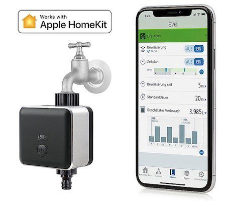 Eve Button + Eve Aqua   Smarte Bewässerungssteuerung inkl. HomeKit Support für 79,90€ (statt 115€)