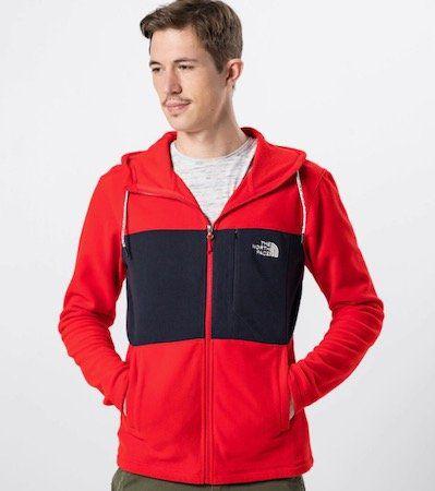 The North Face Sweatjacke in Rot für 50,92€(statt 68€)
