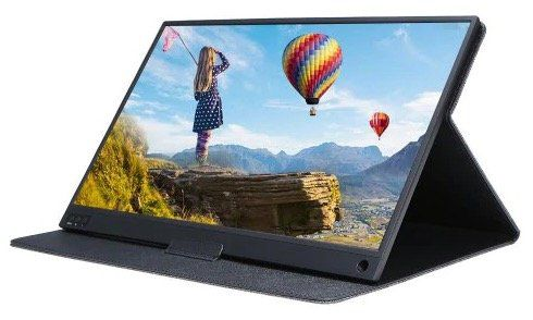 Tbao T15   tragbarer 15,6 FHD Touchscreen mit integriertem Akku für 161,10€