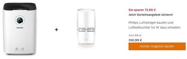 🔥 Knaller: Philips AC5659/10 Luftreiniger mit App Steuerung + Luftbefeuchter für 350,99€ (statt 671€)