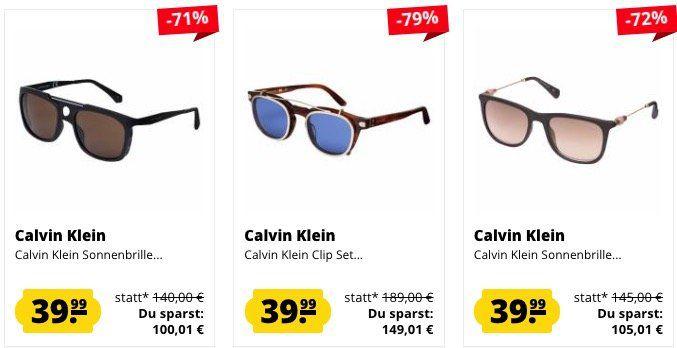 Calvin Klein Sonnenbrillen für je 39,99€ (statt 119€?)