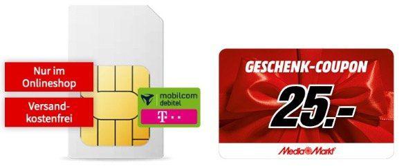 Ausverkauft! Telekom Datentarif mit 10GB LTE für eff. 11,99€ mtl. + 25€ MM Gutschein