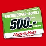 Media Markt: bis zu 500€ Gutschein geschenkt als Energie-Spar-Bonus auf ausgewählte Produkte