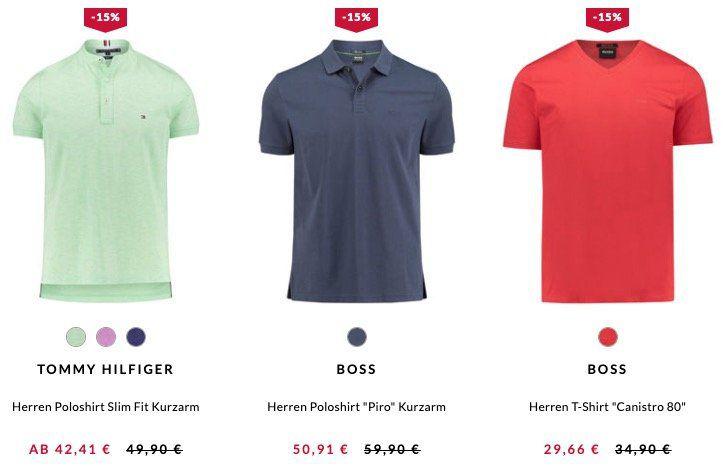 🔥 engelhorn: 15% Rabatt auf Sommer Highlights   z.B. günstige Poloshirts von Tommy Hilfiger oder Hugo Boss