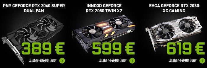 Nvidia Summer Sale   z.B. Zotac GeForce RTX 2070 AMP! Edition für 423,99€ (statt 487€)