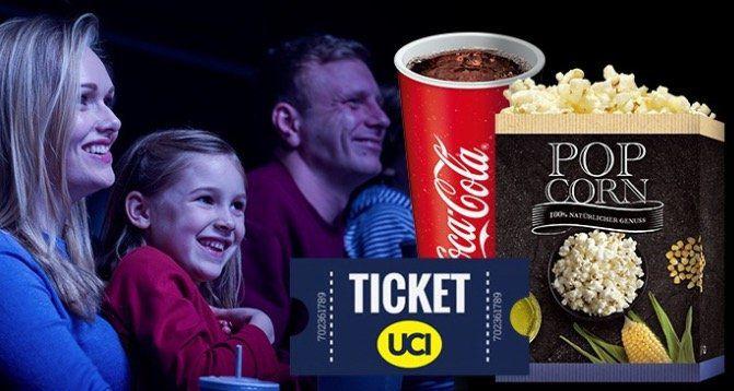 UCI Kino Ticket für alle 2D Filme + kleines Popcorn + Softgetränk oder Bier für 9,99€