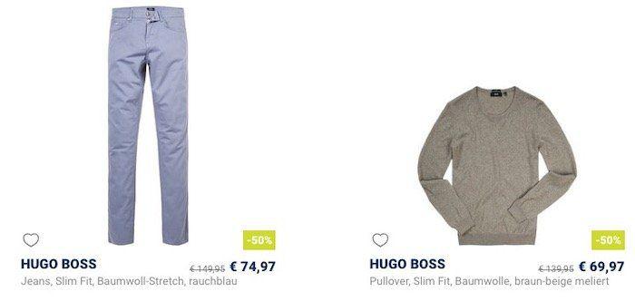 Hugo Boss: bis  30% beim Herrenausstatter   z.B. Stretch Jeans in Slim Fit für 69,97€ (statt 85€)