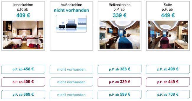 5 Tage Minikreuzfahrt Westliches Mittelmeer inkl. Balkonkabine, Flug, Getränke  & Restaurantpaket ab 599€ p.P.