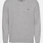 Lacoste Pullover mit V-Neck in Grau für 59,42€(statt 75€)