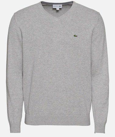 Lacoste Pullover mit V Neck in Grau für 59,42€(statt 75€)