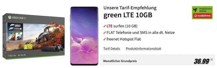 Nur noch heute 🔥 Samsung Galaxy S10 + Xbox One X nur 1€ + Vodafone Flat mit 10GB LTE für 36,99€ mtl.