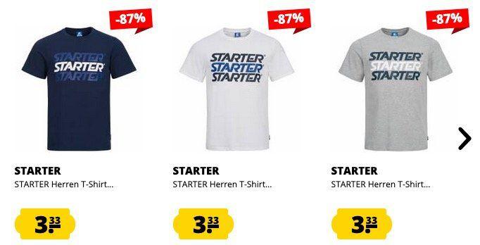Starter Herren T Shirt Incline in verschiedenen Farben und Größen für nur 3,99€