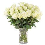 24 weiße Rosen mit 50cm für 24,98€ inkl. Versand