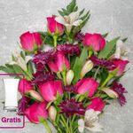 Blume Ideal mit 20% auf Rosensträuße + gratis Vase