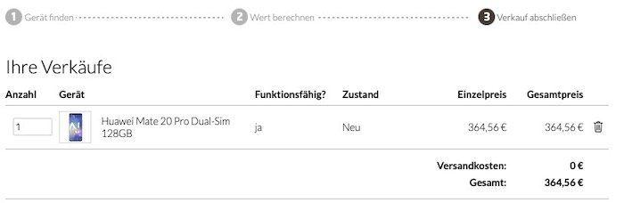 *effektiv gratis Tarif* Huawei Mate20 Pro für 5€ (statt 456€) + Telekom Allnet Flat mit 1GB LTE für 16,99€ mtl.