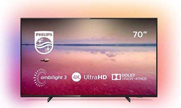 Philips 70PUS6704   70 Zoll UHD Fernseher mit 3 seitigem Ambilight ab 899€(statt 1.101€)