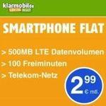 🔥 Telekom Tarif mit 100 Freiminuten + 500MB LTE für 2,99€mtl. bis Mitternacht!