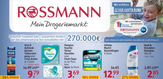 Aktuelle ROSSMANN Angebote mit z.B. Krüger Cappuccino 500g für 1,88€ (statt 3€)