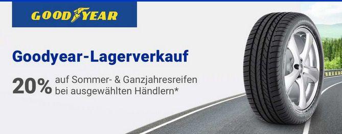 20% auf Reifen ausgewählter Händler   z.B. Goodyear Eagle F1 für 141€ (statt 176€)