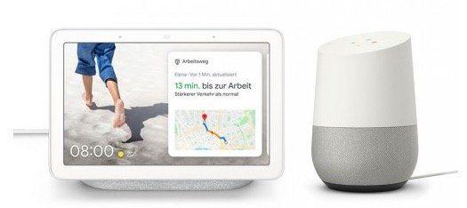 Google Assistant Bundle: Google Home + Google Nest Hub ab 104,95€ (statt 136€)