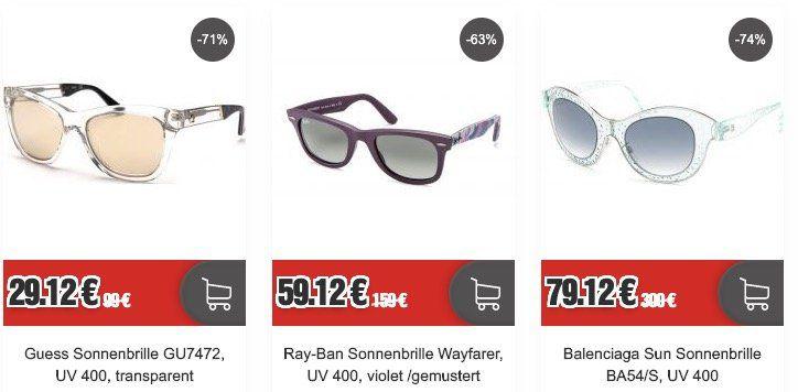Restposten Marken Sonnenbrillen (Ray Ban, Dior ...)   z.B. Ray Ban Wayfarer violet für 59,12€ (statt 77€)