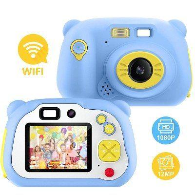 Pacnellent 12MP Kinderkamera mit Farbdisplay, WLAN & 16GB SD Karte für 27,59€ (statt 46€)