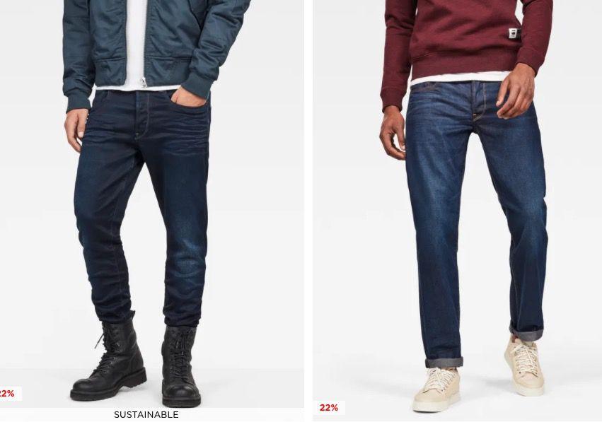 G Star Sale mit bis zu 50% Rabatt + 22% Extra Rabatt   z.B. 3301 Straight Jeans für 76€