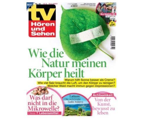 52 Ausgaben tv Hören und Sehen für 125€ + Prämie 125€ Gutschein