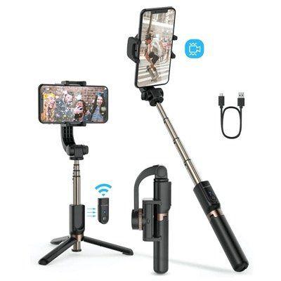 BlitzWolf Bluetooth SelfieStick BW BS12 mit einachsigem Gimbal und Fernbedienung für 27,29€ (statt 39€)