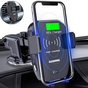 Cleebourg Smartphone Halterung mit Wireless Charger für 18,99€ (statt 35€)