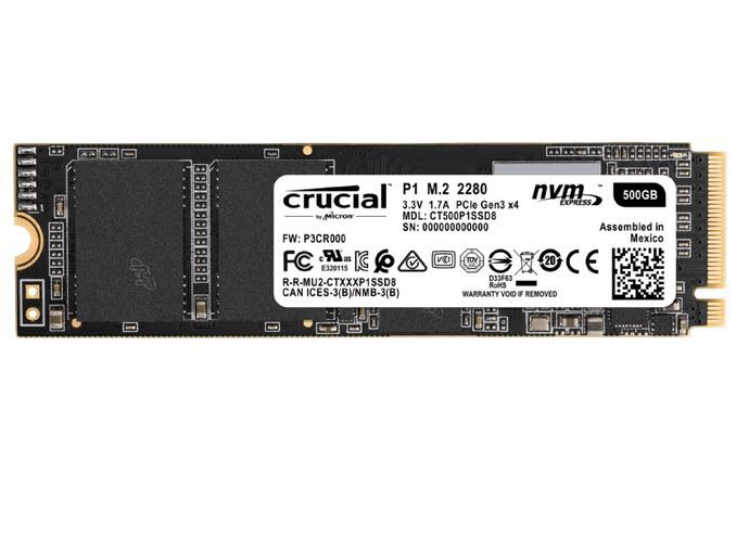 CRUCIAL P1 – 500 GB SSD M.2 intern für 49€ (statt 61€)