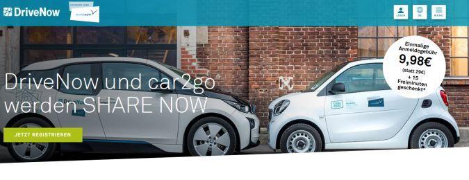 MyTaxi wird zu Free Now, Car2Go und DriveNow zu Share Now