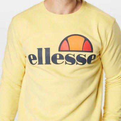 Ellesse Herren Sweatshirt Succiso in Gelb in M bis XL für 29,67€ (statt 43€)