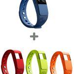 NINETEC F2 Fitnesstracker blau + 3x Ersatz Armband für 13,99€ (statt 55€)