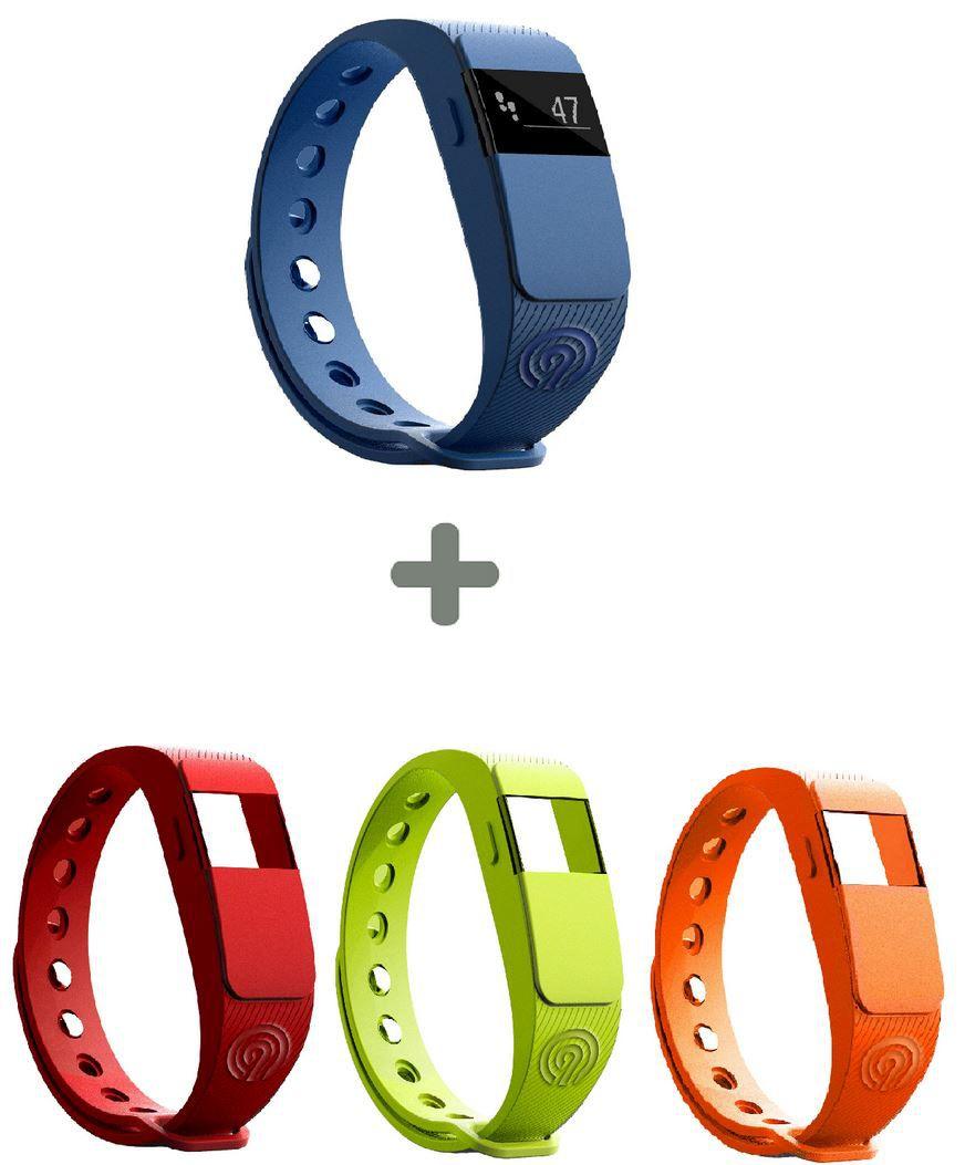 NINETEC F2 Fitnesstracker blau + 3x Ersatz Armband für 14,99€ (statt ~50€)
