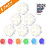 LED Schrankleuchten RGB im 6er Pack inkl. FB für 10,49€ (statt 21€)