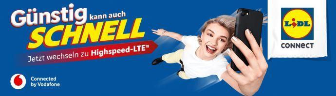 Lidl Connect Mobilfunktarife nun auch mit LTE   dafür mit niedrigeren Transferraten