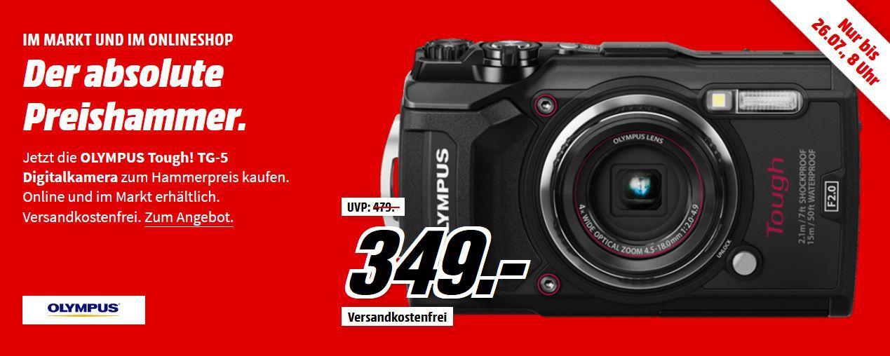 OLYMPUS Tough! TG 5 Digitalkamera 4K Videos bis 15m Wasserdicht für 349€ (statt 375€)