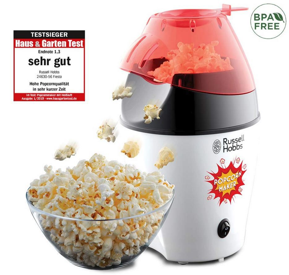 RUSSELL HOBBS 24630 56 Fiesta Popcornmaker für 17,99€ (statt 28€) Prime