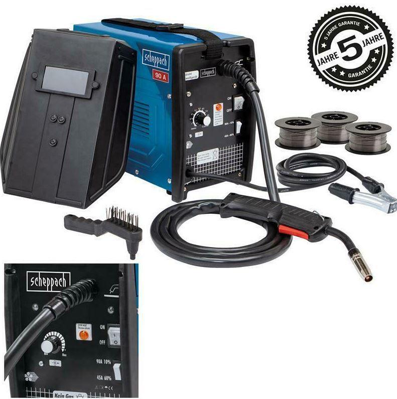 Scheppach WSE3200 Fülldraht Schweißgerät + reichlich Zubehör für 109,99€ (statt 137€)