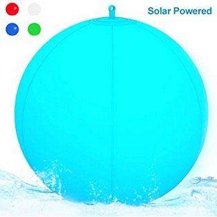 Wasserdichte und schwimmbare LED Solar Kugel Leuchte für 12,34€ (statt 19€)