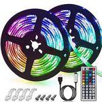 2x 3m LED Streifen (SMD5050) mit 20 Farben, 6 Modi & IP65 für 14,94€ – Prime