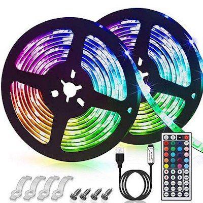 2x 3m LED Streifen (SMD5050) mit 20 Farben, 6 Modi & IP65 für 12,34€   Prime