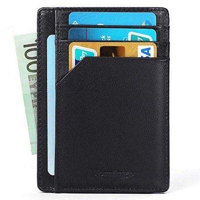 Vemingo Mini Echtleder Geldbeutel Kartenetui mit RFID Schutz nur 9,49€ (statt 19€)   Prime