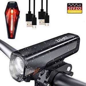 Cree LED Fahrradlicht Set aus Front  und Rücklicht mit StVZO Zulassung für 19,99€