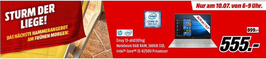 Ausverkauft! HP ENVY 13 ah0301ng   13.3 Notebook mit i5 8GB RAM 360GB SSD für 555€ (statt 899€)   bis 9Uhr